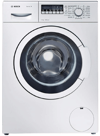 Bosch 7 kg Fully-Automatic Front Loading Washing Machine (WAK24268IN, silver/grey, Inbuilt Heater)
